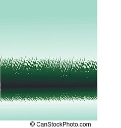 grass silhouettes with reflection in water