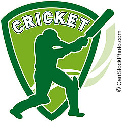 cricket sports player batsman - illustration of a cricket...