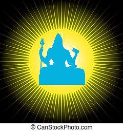 Indian God Shiva - Indian god Shiva on Sun
