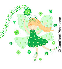 Good luck fairy - Cute green good luck fairy