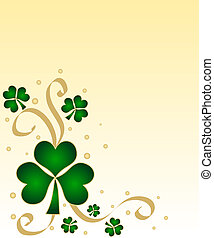 Green shamrocks - Lucky green shamrocks