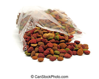 pet food on a white background