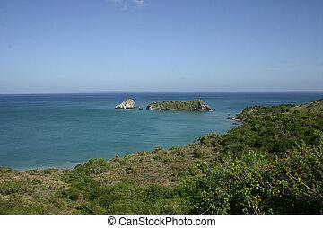 Cliffs on the coast in Isla de Margarita Venezuela