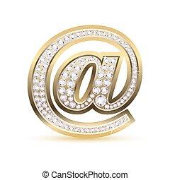 Web Icon - illustration of web icon with diamond on isolated...