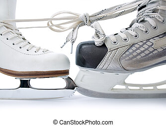Ice skates tied against each other - Skate for figure...