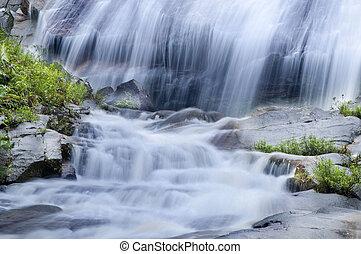 Natural waterfall at Gunung Stong State Park, Kelantan,...