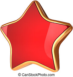 Beautiful star shape red with gold
