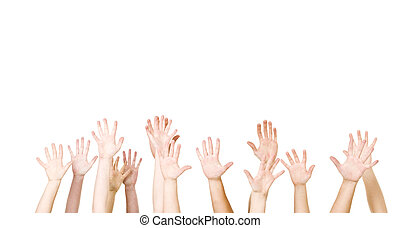 Group of Hands in the air