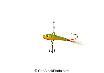 Fishing bait on a white background