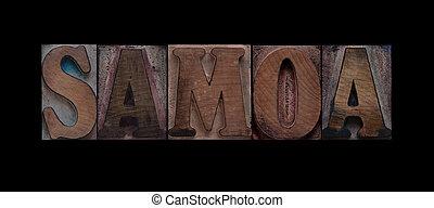 Tipo,  Samoa, legno, vecchio