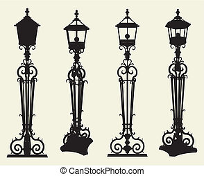 Candelabra Street Light Vector