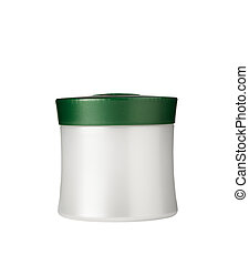 Jar for cosmetics - Jar with cosmetics on a white background