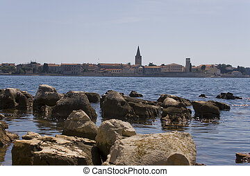 Panorama of Porec, Croatia - Old croatian historic city...