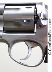 Magnum .357 caliber revolver,Trigger and cylinder