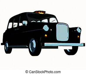 Traditional english taxi cab - A retro style english taxi...
