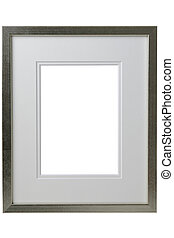 Silver frame with white passepartout - Silver frame with...