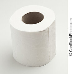paper roll isolated on a white background