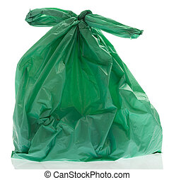plastic bag - rubbish plastic bag on a white background