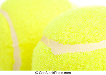 tennis ball - extreme closeup of a green tennis ball