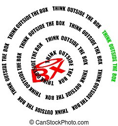 spiral thinking out of the box - creative solutions require...