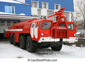 Fire truck - All-wheel-drive red fire truck