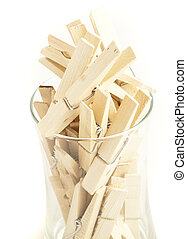 clothes peg isolated on a white background