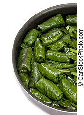Turkish dolmas - Meat stuffed grape leaves, called as Dolma,...