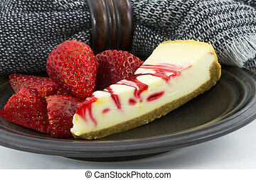 Country Ripe Strawberry Swirl Cheesecake - Country ripe...