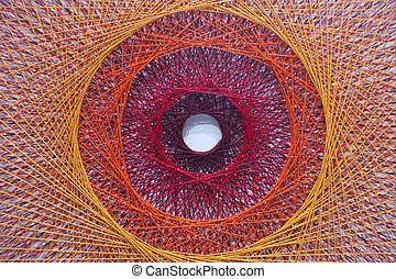 string art with colourful thread