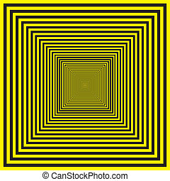 Black and yellow background with hypnotic effect