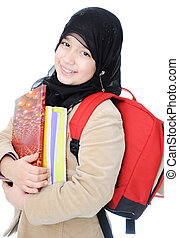 musulman, écolière