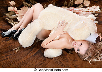 Naked beautiful young blonde