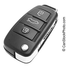 car key - electronic car key isolated on a white background