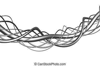 Aluminum abstract string artwork background