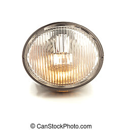 bicycle light isolated on a white background