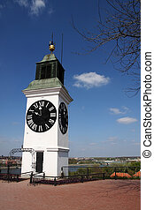 Novi Sad, Serbia - Old clock tower n Novi Sad, Serbia