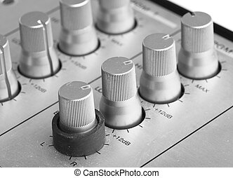 faders - extreme closeup of a faders control on mixer