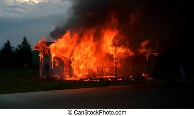 House ablaze 1
