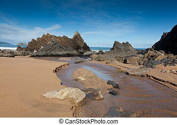 Beach of Laga, Ibarrangelu, Bizkaia, Spain