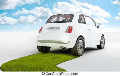Eco Car - Car with alternative and renewable power for a...
