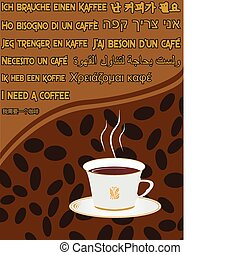 Coffee background vector illustration