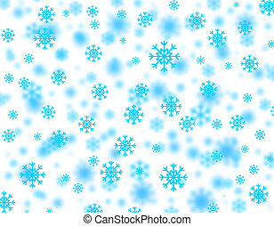 Snowstorm - Beautiful Christmas snowflakes falling from the...