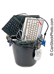Obsolete hardware - Discarded, used and old computer...