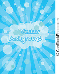 Abstract vector background - Abstract blue vector background