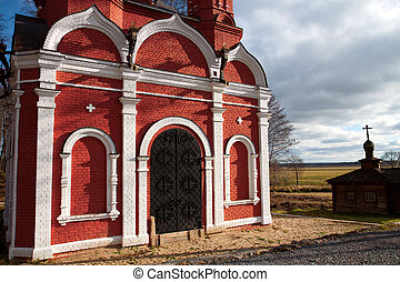 Christian churches - Two christian churches at old russian...