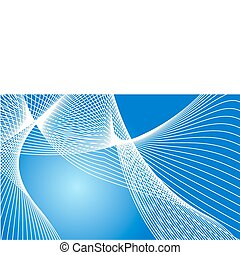 White lines - Beautiful white lines on a blue background