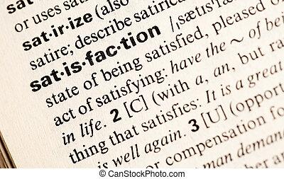 satisfaction def