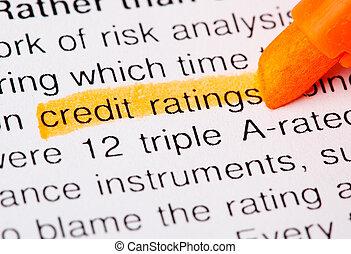 credit ratings word