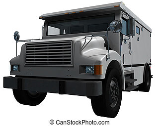 White Armored Truck - Armored truck for the transport of...