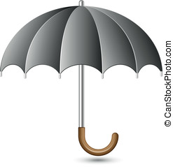 Umbrella - Vector illustration of black umbrella